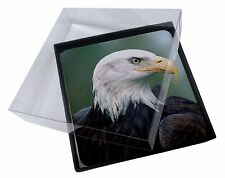 4x Eagle, Bird of Prey Picture Table Coasters Set in Gift Box, AB-E6C