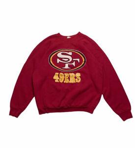 Vintage 90s San Francisco 49ers Red Crewneck Pullover Sweatshirt Sz L/XL NFL FOL