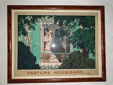 HOUBIGANT-PARFUMS - Rare Publicite de Pierre Brissaud avec son cadre d'origine