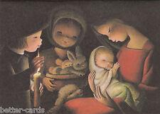 Happy Christmas Vintage 1970's Greeting Card - Merry Nativity Scene Baby Jesus