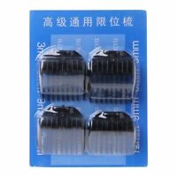 4Pcs Universal Hair Clipper Limit Combs Guide Guard Attachment Size 3.6.9.12mm