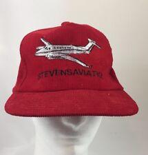 a3ffc710b58 Aviation Mens Baseball Cap Hat Red Corduroy Adjustable SnapBack