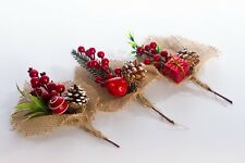 Special Sale Price Christmas Table Bouquet for Gift or Decoration - Twin Pack
