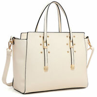 Dasein Women Handbags Studs Satchel Winged Purse Tote Bags Shoulder Purse