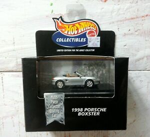 Hot Wheels 1999 1998 Porsche Boxster Limited Edition 100% Silver Rare HTF New