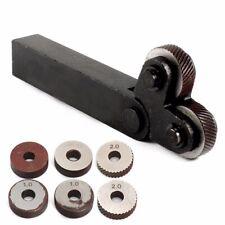 7 x Knurling Tool Diagonal Single Wheel Linear Knurl Set 0.5mm 1mm 2mm Pitch Set