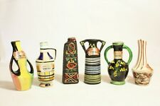 6x Vintage Drioli Bottles Abstract & Traditional Designs - Empty