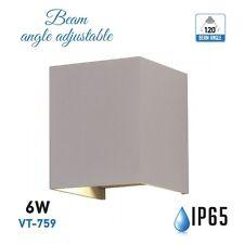 LAMPADA DA MURO APPLIQUE 6W GRIGIO ESTERNO IP65 DOPPIO LED V-TAC VT-759 CALDA