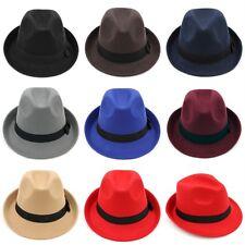 Fashion Kids Boys Girls Felt Fedora Cap Trilby Hat Children Wool Blend Jazz  Cap e746f1efa02d