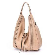 Ladies Large Hobo Handbags Leather Tote Purse Shoulder Vintage Bucket Bag Khaki
