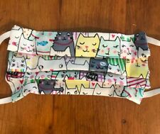 Fabric Face Mask with Filter pocket - 100% Cotton Reusable Washable-USA - CATS