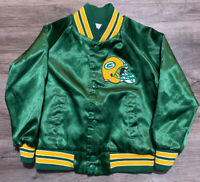 Green Bay Packers NFL Football Vintage Satin Snap Jacket Chalk Line Youth Size 5