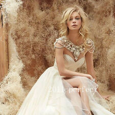 Rhinestone Wedding Dresses Jackets Crystal Beads Cape Custom Bridal Boleros New