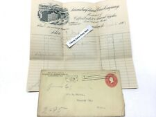 Antique 1899 HARRISBURG BURIAL CASE CO.  Funeral Coffin Casket Supply Invoice
