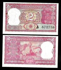 Rs 2/- India Banknote Issue 1960S Signed By L.K JHA GEM UNC GANDHI ISSUE