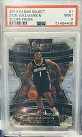 2019-20 Panini Select Zion Williamson Rc Scope  Prizm Psa 9 Mint