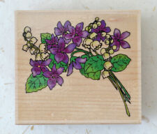 Embossing Arts 1454-F Woodland Bouquet - hardwood mounted rubber stamp - New