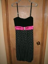 Deb 2X Black & Pink cocktail Party Dress Prom NWT