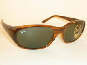 New Ray Ban Daddy-O  Sunglasses Striped Havana Frame RB 2016 820/31 Green Lenses