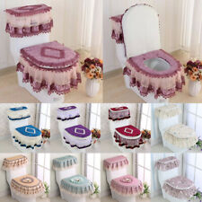 3Pcs Fashion Home Toilet Seat Covers Decor Bathroom Supplies Toilet Lid Pad