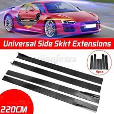 """Universal 86"""" Car Side Skirt Extension Rocker Panel Splitter Protector Lip Black"""
