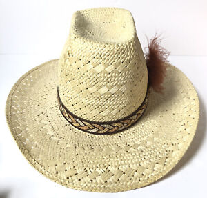 Resistol Stagecoach Self Conforming Western Cowboy Straw Hat Size 7 1/4