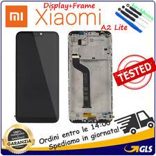 TOUCH SCREEN VETRO LCD DISPLAY CON FRAME Per XIAOMI MI A2 LITE NERO