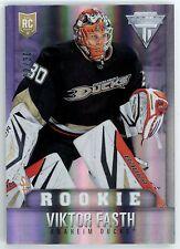 Viktor Fasth 2013-14 Panini Titanium Hockey Base Rookie RC Card 2/30