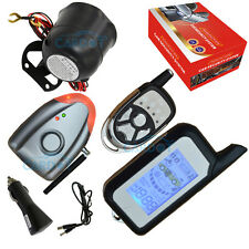 DIY car alarm system with LCD two way alarm remotes double alarm modes