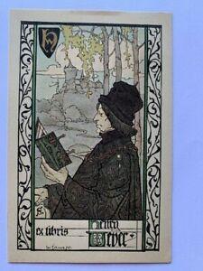 Ex-libris Alsace Léo SCHNUG pour Henri Weber, 103 x 65 mm