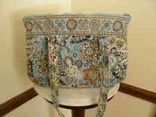 2861) Vera Bradley Blue Floral Pattern Shoulder Bag DAMAGED FOR CRAFTS PARTS,ETC