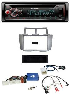 Pioneer Lenkrad DAB CD Bluetooth USB Autoradio für Toyota Yaris 2007-2011 silber