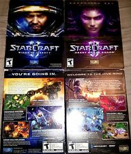 PC StarCraft 2 II Wings Liberty AND & + Heart of the Swarm Expansion NEW SEALED