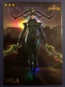 Marvel Contest Of Champions Dave And Busters Cards-HELA Foil Holographic