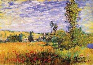 Isle of Flowers - C.Monet - A3 size 29.7x42cm Canvas Art Print Poster Unframed