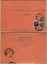 RSI-50c(493)+coppia 5c(SS34)-Busta Tortona->Milano 18.3.1944