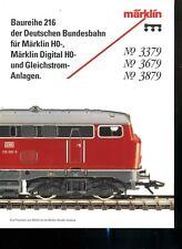 Modellismo Ferrovia catalogo treni Marklin opuscolo TED 3379 3679 3879