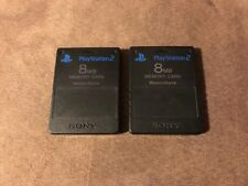 2 Official Sony PlayStation 2 PS2 8MB MagicGate Memory Card ~ Original OEM LQQK