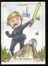 2015 Topps Star Wars Masterwork GOLD Sketch Card #ed 3/5 by ANDIE TONG