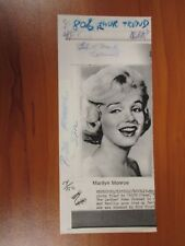 Vintage AP Wire Press Photo Actress Marilyn Monroe, Some Like it Hot, Misfits #8