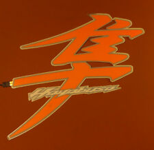 Hayabusa sticker/decal  Lighted/Illuminated Kanji / Symbol Suzuki Orange PAIR