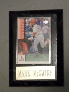 Mark McGwire Small Plaque with Baseball Card
