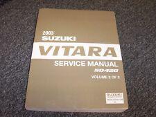 2003 Suzuki Vitara SUV Workshop Shop Service Repair Manual Vol2 2.0L