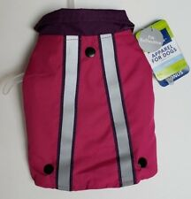 Pink & Purple 2 in 1 Fleece & Reflective Dog Jacket Small Top Paw