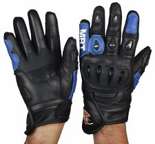Motorcycle Motorbike SUMMER LEATHER Racing Sport Gloves with Knuckle Protection