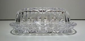 *VINTAGE* Waterford Crystal Marquis SHERIDAN (1997-) 1/4 Lb Covered Butter Dish