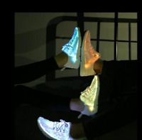 LED Fiber Optic Shoes USB Recharge Glowing Sneakers Men Light Up Athletic Shoes