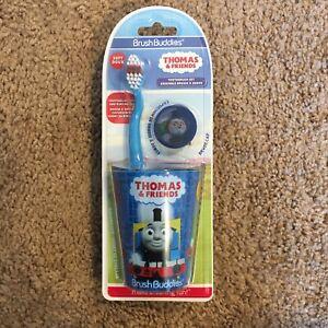 """Brush Buddies """"Thomas & Friends"""" Toothbrush Set w/ Toothbrush cap, Rinsing Cup"""