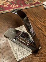 VINTAGE Paper Welder Original Desk Top Alternative Stapler Crimper chrome USA