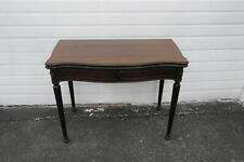 Mahogany Console Card Game Dining Extension Table by Leonardo Furniture 1111